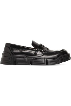VERSACE Trigreca Sole Leather Loafers