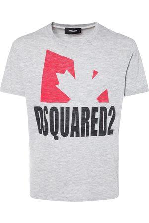 Dsquared2 Logo Cotton & Viscose Jersey T-shirt