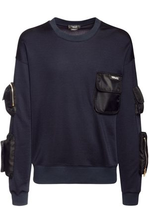 VERSACE Cotton Sweater W/military Pockets