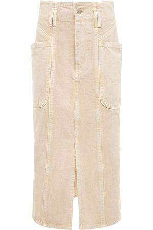 Isabel Marant Women Midi Skirts - Toria Cotton Denim Midi Skirt