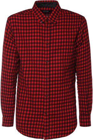 Dsquared2 Men Casual - Micro Check Wool & Viscose Flannel Shirt