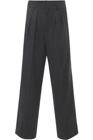Isabel Marant Nafy Wool Low Waist Pleated Pants