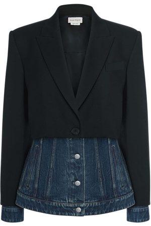 Alexander McQueen Wool & Denim Jacket