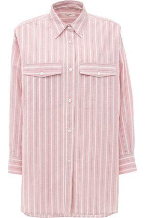 Isabel Marant Ajady Cotton Poplin Striped Shirt
