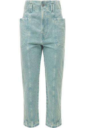 Isabel Marant Women Trousers - Tucson High Waist Cotton Denim Pants