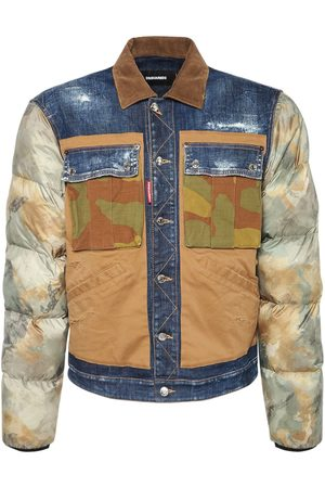 Dsquared2 Camo Mix & Cotton Denim Jacket