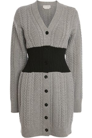 Alexander McQueen Women Cardigans - Wool & Cashmere Cable Knit Cardigan