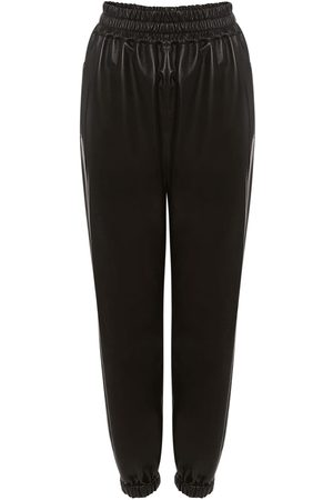 Alexander McQueen Leather Jogger Pants