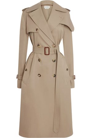 Alexander McQueen Cotton Gabardine Trench Coat