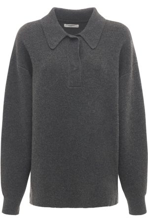 Isabel Marant Lark Knit Wool Blend Polo Sweater
