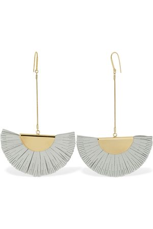 Isabel Marant Leather Folding Fan Earrings