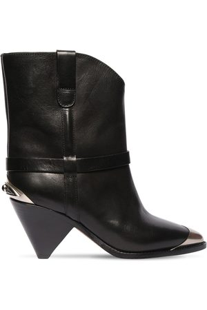 Isabel Marant Women Ankle Boots - 75mm Limza Leather Ankle Boots