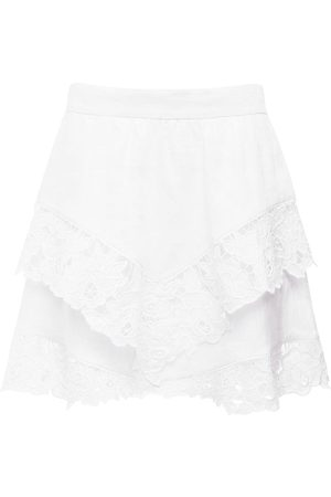 Isabel Marant Enali Ruffled Linen Mini Skirt