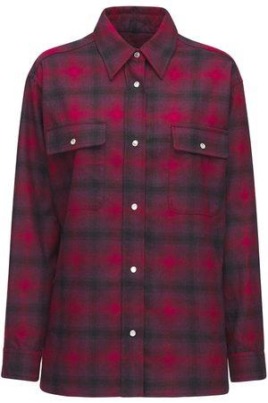 Isabel Marant Marcelia Over Check Wool Blend Shirt