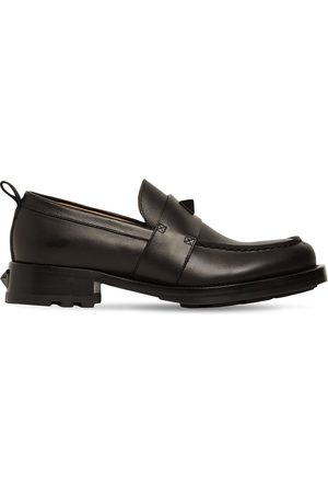 VALENTINO GARAVANI Leather Loafers W/macro Studs