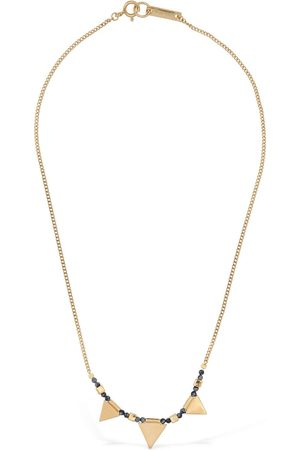 Isabel Marant Multi-charm Stone Short Necklace