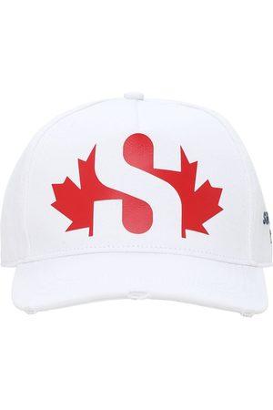 Dsquared2 Men Hats - Superga Print Cotton Gabardine Cap