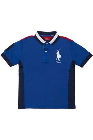 Ralph Lauren Boys Polo Shirts - Logo Embroidered Piquet Polo Shirt