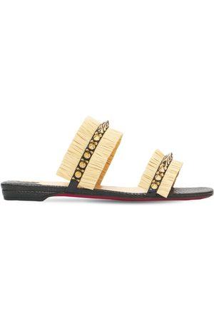 Christian Louboutin Women Sandals - 10mm Marivodou Raffia Effect Mules