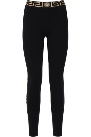 VERSACE Women Leggings - Stretch Jersey Leggings