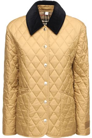 Burberry Women Jackets - Quilted Buttoned Short Jacket