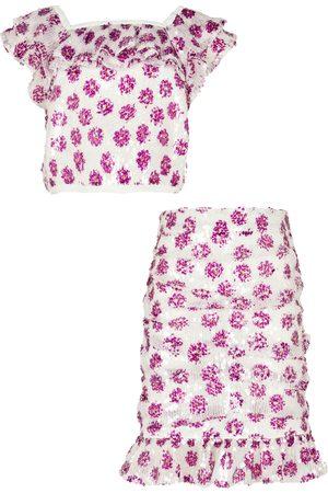 River Island Girls Crop Tops - Girls sequin crop top and skirts set