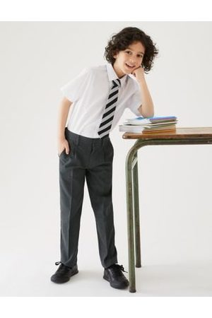 Marks & Spencer Boys Boys' Regular Leg Plus Fit School Trousers - 13-14