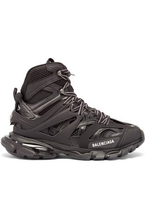Balenciaga Women Boots - Track Hike Panelled Faux-leather Boots - Womens