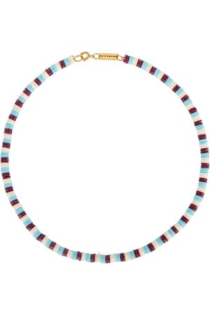 Gimaguas Pukas Striped Sequinned Necklace