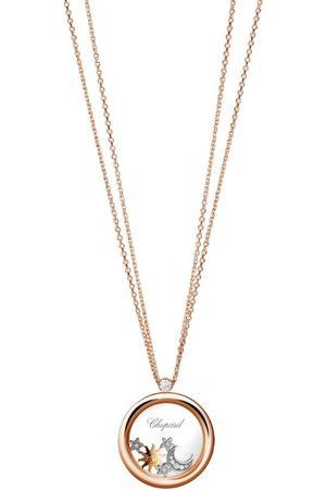 Chopard Women Necklaces - Rose and Diamond Happy Diamonds Pendant