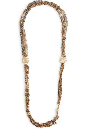 Dolce & Gabbana Multi-Strand Logo Necklace
