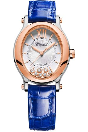 Chopard Women Watches - Rose , Stainless Steel and Diamond Happy Sport Oval Watch 29mm