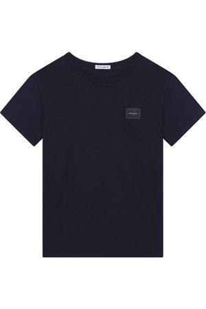Dolce & Gabbana Short Sleeve - Kids Logo-Plaque T-Shirt (8-12 Years)