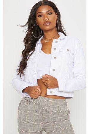 PRETTYLITTLETHING Women Denim Jackets - Cropped Denim Jacket