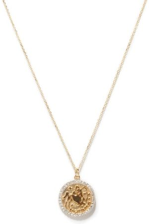 Mateo Saggitarius Large Diamond & 14kt Necklace - Womens