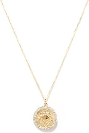 Mateo Women Necklaces - Cancer Large Diamond & 14kt Zodiac Necklace - Womens