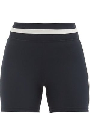 The Upside Mallorca Side-stripe Stretch-jersey Cycling Shorts - Womens - Navy