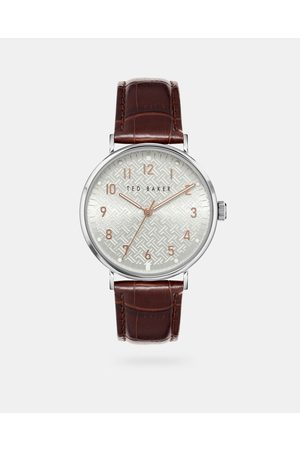 Ted Baker Men Watches - Bkpmms115 Imitation Croc Leather Strap Watch