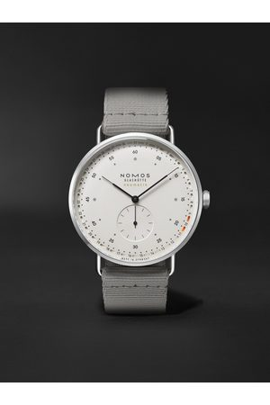 Nomos Glashütte Men Watches - Metro Neomatik 41 Automatic 40.5mm Stainless Steel and Webbing Watch, Ref. No. 1165
