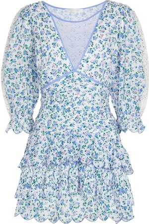 LOVESHACKFANCY Marquise floral cotton minidress