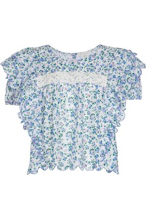LOVESHACKFANCY Nelson floral cotton blouse