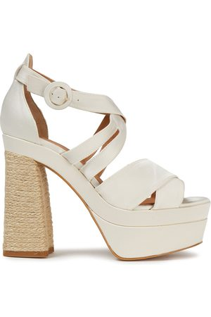CASTAÑER Castañer Woman Arola Cotton-blend Satin Platform Sandals Size 39