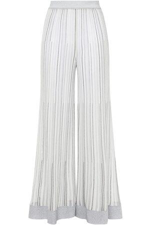 Missoni Woman Metallic Crochet-knit Wide-leg Pants Size 36