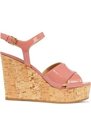 Sergio Rossi Woman Patent-leather Wedge Sandals Baby Size 37