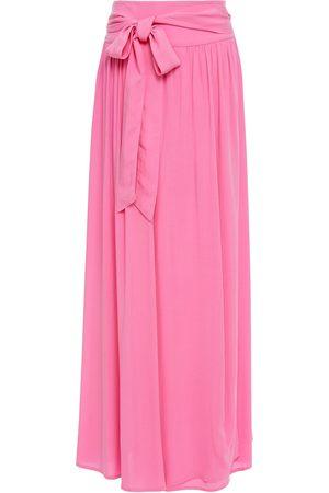 Melissa Odabash Woman Elsa Wrap-effect Voile Maxi Skirt Bubblegum Size L