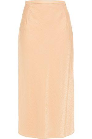 Baum und Pferdgarten Woman Moire Midi Skirt Peach Size 34