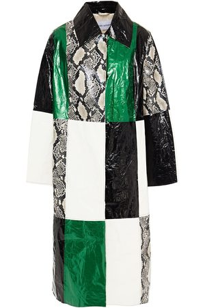 Stand Studio Woman Patchwork-effect Coated Faux Leather Coat Size 36