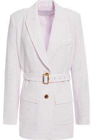 JONATHAN SIMKHAI Woman Belted Crepe Blazer Lilac Size 4
