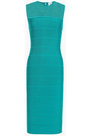Hervé Léger Hervé Léger Woman Bandage Dress Turquoise Size S