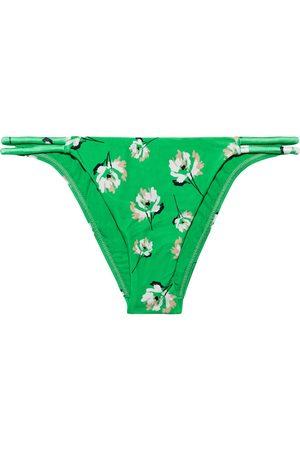 VIX PAULA HERMANNY Woman Petals Twine Floral-print Low-rise Bikini Briefs Size L